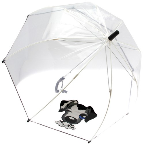 Parapluie canne transparent
